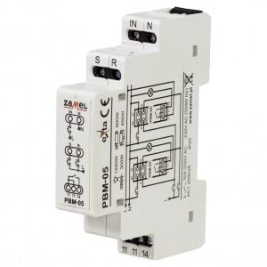 Zamel Exta PBM-05 - Przekaźnik bistabilny beznapięciowy centralny z pamięcią po zaniku napięcia 230V AC, Montaż na szynie TH - Podgląd zdjęcia nr 1