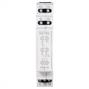 Zamel Exta PBM-05 - Przekaźnik bistabilny beznapięciowy centralny z pamięcią po zaniku napięcia 230V AC, Montaż na szynie TH - Podgląd zdjęcia nr 2
