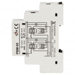 Zamel Exta PBM-05 - Przekaźnik bistabilny beznapięciowy centralny z pamięcią po zaniku napięcia 230V AC, Montaż na szynie TH - Podgląd zdjęcia nr 4