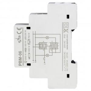 Zamel Exta PBM-06 - Przekaźnik bistabilny sekwencyjny 230V AC, Montaż na szynie TH - Podgląd zdjęcia nr 4