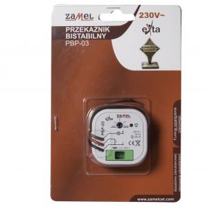 Zamel Exta PBP-03 - Przekaźnik bistabilny z nastawą czasu pracy 230V AC, Montaż w puszcze p/t fi60 (Zakres nastawy czasu pracy 0,1s-10dni) - Podgląd zdjęcia nr 1