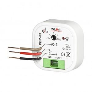 Zamel Exta PBP-03 - Przekaźnik bistabilny z nastawą czasu pracy 230V AC, Montaż w puszcze p/t fi60 (Zakres nastawy czasu pracy 0,1s-10dni) - Podgląd zdjęcia nr 3