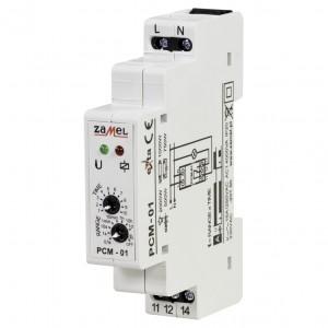 Zamel Exta PCM-01 - Przekaźnik czasowy 230V AC, Montaż na szynie TH (Opóźnione załączanie, 0,1s-10dni) - Podgląd zdjęcia nr 1