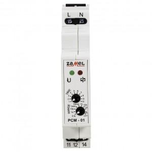 Zamel Exta PCM-01 - Przekaźnik czasowy 230V AC, Montaż na szynie TH (Opóźnione załączanie, 0,1s-10dni) - Podgląd zdjęcia nr 2