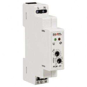 Zamel Exta PCM-01 - Przekaźnik czasowy 230V AC, Montaż na szynie TH (Opóźnione załączanie, 0,1s-10dni) - Podgląd zdjęcia nr 3