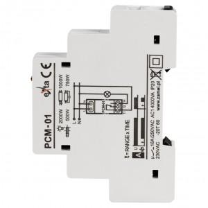Zamel Exta PCM-01 - Przekaźnik czasowy 230V AC, Montaż na szynie TH (Opóźnione załączanie, 0,1s-10dni) - Podgląd zdjęcia nr 4