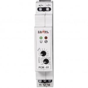 Zamel Exta PCM-01/24V - Przekaźnik czasowy 24V AC/DC, Montaż na szynie TH (Opóźnione załączanie, 0,1s-10dni) - Podgląd zdjęcia nr 2
