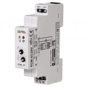 Zamel Exta PCM-01/24V - Przekaźnik czasowy 24V AC/DC, Montaż na szynie TH (Opóźnione załączanie, 0,1s-10dni) - Podgląd zdjęcia nr 3