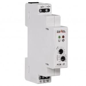 Zamel Exta PCM-01/24V - Przekaźnik czasowy 24V AC/DC, Montaż na szynie TH (Opóźnione załączanie, 0,1s-10dni) - Podgląd zdjęcia nr 4