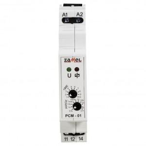 Zamel Exta PCM-01/U - Przekaźnik czasowy 12-230V AC/DC, Montaż na szynie TH (Opóźnione załączanie, 0,1s-10dni) - Podgląd zdjęcia nr 2