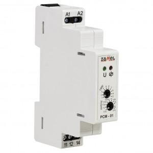 Zamel Exta PCM-01/U - Przekaźnik czasowy 12-230V AC/DC, Montaż na szynie TH (Opóźnione załączanie, 0,1s-10dni) - Podgląd zdjęcia nr 3