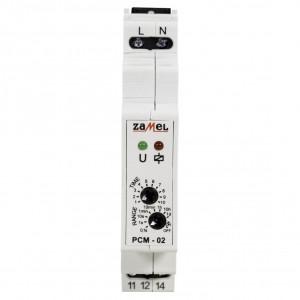 Zamel Exta PCM-02 - Przekaźnik czasowy 230V AC, Montaż na szynie TH (Opóźnione wyłączanie, 0,1s-10dni) - Podgląd zdjęcia nr 2