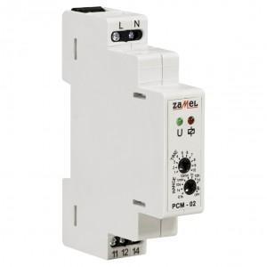 Zamel Exta PCM-02 - Przekaźnik czasowy 230V AC, Montaż na szynie TH (Opóźnione wyłączanie, 0,1s-10dni) - Podgląd zdjęcia nr 3