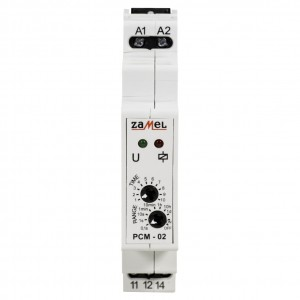 Zamel Exta PCM-02/U - Przekaźnik czasowy 12-230V AC/DC, Montaż na szynie TH (Opóźnione wyłączanie, 0,1s-10dni) - Podgląd zdjęcia nr 2