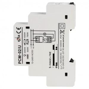 Zamel Exta PCM-02/U - Przekaźnik czasowy 12-230V AC/DC, Montaż na szynie TH (Opóźnione wyłączanie, 0,1s-10dni) - Podgląd zdjęcia nr 4