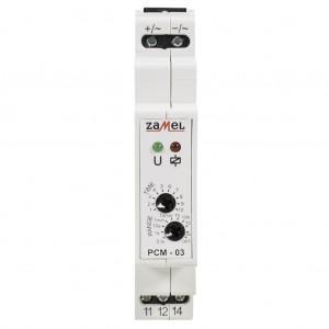 Zamel Exta PCM-03/24V - Przekaźnik czasowy 24V AC/DC, Montaż na szynie TH (Cykliczne przełączanie, 0,1s-10dni) - Podgląd zdjęcia nr 2