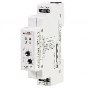 Zamel Exta PCM-03/24V - Przekaźnik czasowy 24V AC/DC, Montaż na szynie TH (Cykliczne przełączanie, 0,1s-10dni) - Podgląd zdjęcia nr 3