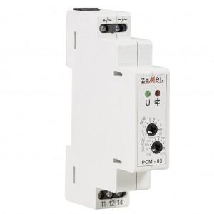 Zamel Exta PCM-03/24V - Przekaźnik czasowy 24V AC/DC, Montaż na szynie TH (Cykliczne przełączanie, 0,1s-10dni) - Podgląd zdjęcia nr 4
