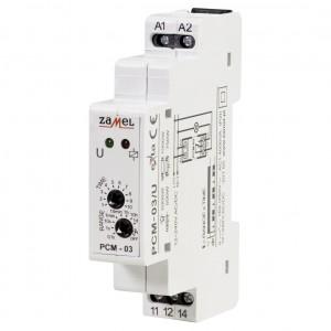 Zamel Exta PCM-03/U - Przekaźnik czasowy 12-230V AC/DC, Montaż na szynie TH (Cykliczne przełączanie, 0,1s-10dni) - Podgląd zdjęcia nr 1