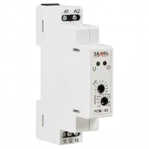 Zamel Exta PCM-03/U - Przekaźnik czasowy 12-230V AC/DC, Montaż na szynie TH (Cykliczne przełączanie, 0,1s-10dni) - Podgląd zdjęcia nr 3