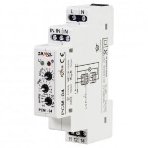 Zamel Exta PCM-04 - Przekaźnik czasowy 230V AC, Montaż na szynie TH (Uniwersalny, 10-funkcyjny, 0,1s-10dni) - Podgląd zdjęcia nr 1