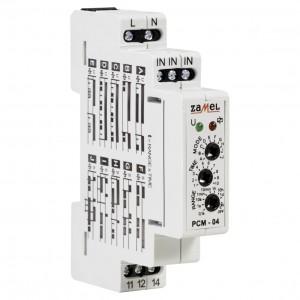 Zamel Exta PCM-04 - Przekaźnik czasowy 230V AC, Montaż na szynie TH (Uniwersalny, 10-funkcyjny, 0,1s-10dni) - Podgląd zdjęcia nr 2
