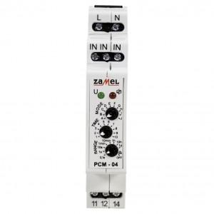 Zamel Exta PCM-04 - Przekaźnik czasowy 230V AC, Montaż na szynie TH (Uniwersalny, 10-funkcyjny, 0,1s-10dni) - Podgląd zdjęcia nr 3