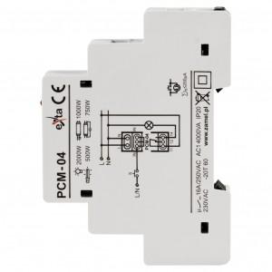 Zamel Exta PCM-04 - Przekaźnik czasowy 230V AC, Montaż na szynie TH (Uniwersalny, 10-funkcyjny, 0,1s-10dni) - Podgląd zdjęcia nr 4