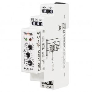 Zamel Exta PCM-04/24V - Przekaźnik czasowy 24V AC/DC, Montaż na szynie TH (Uniwersalny, 10-funkcyjny, 0,1s-10dni) - Podgląd zdjęcia nr 3