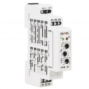 Zamel Exta PCM-04/24V - Przekaźnik czasowy 24V AC/DC, Montaż na szynie TH (Uniwersalny, 10-funkcyjny, 0,1s-10dni) - Podgląd zdjęcia nr 4