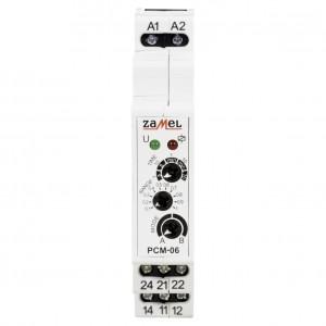 Zamel Exta PCM-06/U - Przekaźnik czasowy 12-230V AC/DC, Montaż na szynie TH (Opóźnione wyłączanie + Opóźnione załączenie, 0,1s-10dni) - Podgląd zdjęcia nr 2