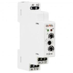 Zamel Exta PCM-06/U - Przekaźnik czasowy 12-230V AC/DC, Montaż na szynie TH (Opóźnione wyłączanie + Opóźnione załączenie, 0,1s-10dni) - Podgląd zdjęcia nr 3