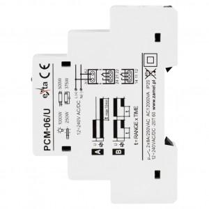 Zamel Exta PCM-06/U - Przekaźnik czasowy 12-230V AC/DC, Montaż na szynie TH (Opóźnione wyłączanie + Opóźnione załączenie, 0,1s-10dni) - Podgląd zdjęcia nr 4
