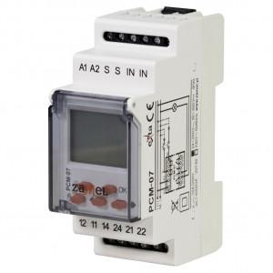 Zamel Exta PCM-07/U - Przekaźnik czasowy 12-230V AC/DC, Montaż na szynie TH (Uniwersalny, 25-funkcyjny, 0,1s-99h59m59s) - Podgląd zdjęcia nr 1