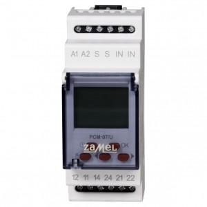 Zamel Exta PCM-07/U - Przekaźnik czasowy 12-230V AC/DC, Montaż na szynie TH (Uniwersalny, 25-funkcyjny, 0,1s-99h59m59s) - Podgląd zdjęcia nr 2