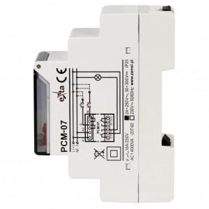 Zamel Exta PCM-07/U - Przekaźnik czasowy 12-230V AC/DC, Montaż na szynie TH (Uniwersalny, 25-funkcyjny, 0,1s-99h59m59s) - Podgląd zdjęcia nr 4