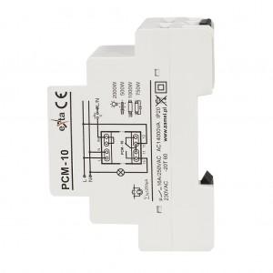 Zamel Exta PCM-10 - Przekaźnik czasowy 230V AC, Montaż na szynie TH (Uniwersalny, 10-funkcyjny, 2-czasowy, 0,1s-10dni + 0,1s-10dni) - Podgląd zdjęcia nr 5