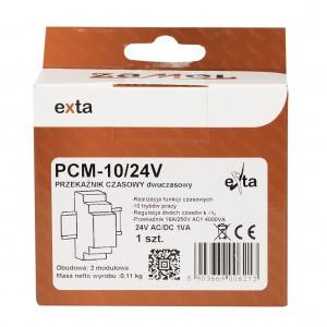 Zamel Exta PCM-10/24V - Przekaźnik czasowy 24V AC/DC, Montaż na szynie TH (Uniwersalny, 10-funkcyjny, 2-czasowy, 0,1s-10dni + 0,1s-10dni) - Podgląd zdjęcia nr 1