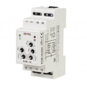 Zamel Exta PCM-10/24V - Przekaźnik czasowy 24V AC/DC, Montaż na szynie TH (Uniwersalny, 10-funkcyjny, 2-czasowy, 0,1s-10dni + 0,1s-10dni) - Podgląd zdjęcia nr 3