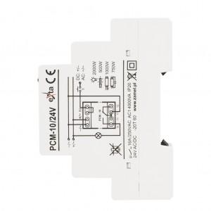 Zamel Exta PCM-10/24V - Przekaźnik czasowy 24V AC/DC, Montaż na szynie TH (Uniwersalny, 10-funkcyjny, 2-czasowy, 0,1s-10dni + 0,1s-10dni) - Podgląd zdjęcia nr 5