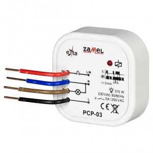 Zamel Exta PCP-03 - Przekaźnik czasowy 230V AC, Montaż w puszcze p/t fi60 (Czas stały: 3min) - Podgląd zdjęcia nr 1
