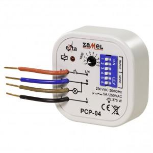 Zamel Exta PCP-04 - Przekaźnik czasowy 230V AC, Montaż w puszcze p/t fi60 (Uniwersalny, 8-funkcyjny, 0,1s-10dni) - Podgląd zdjęcia nr 1