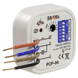 Zamel Exta PCP-04 - Przekaźnik czasowy 230V AC, Montaż w puszcze p/t fi60 (Uniwersalny, 8-funkcyjny, 0,1s-10dni) - Podgląd zdjęcia nr 3
