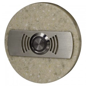Zamel Ynsta PDK-252-BEZ - Przycisk dzwonkowy ozdobny, okrągły z podświetleniem 230V AC, Kolor: Beżowy - Podgląd zdjęcia nr 1