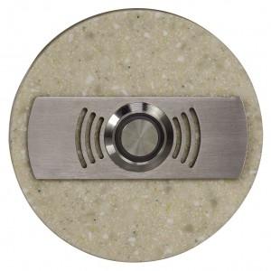 Zamel Ynsta PDK-252-BEZ - Przycisk dzwonkowy ozdobny, okrągły z podświetleniem 230V AC, Kolor: Beżowy - Podgląd zdjęcia nr 2