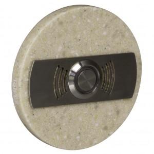 Zamel Ynsta PDK-252-BEZ - Przycisk dzwonkowy ozdobny, okrągły z podświetleniem 230V AC, Kolor: Beżowy - Podgląd zdjęcia nr 3