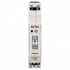 Zamel Exta PEM-01/230 - Przekaźnik jednotorowy z cewką 230V AC/DC, Montaż na szynie TH - Podgląd zdjęcia nr 2