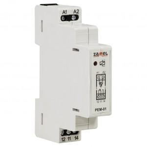 Zamel Exta PEM-01/230 - Przekaźnik jednotorowy z cewką 230V AC/DC, Montaż na szynie TH - Podgląd zdjęcia nr 3