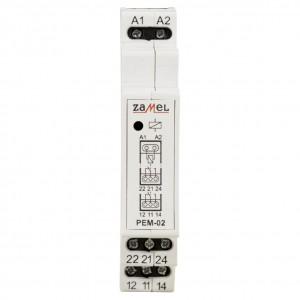 Zamel Exta PEM-02/048 - Przekaźnik dwutorowy z cewką 48V AC/DC, Montaż na szynie TH - Podgląd zdjęcia nr 2