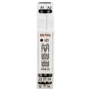 Zamel Exta PEM-02/230 - Przekaźnik dwutorowy z cewką 230V AC/DC, Montaż na szynie TH - Podgląd zdjęcia nr 2